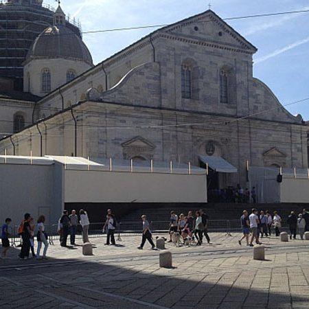 Allestimento Duomo di Torino_ Ostensione Sindone - Venturello Teloni Poirino