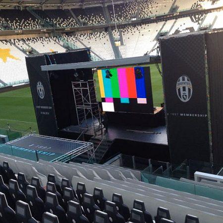 Allestimento palco per Juventus FC - Venturello
