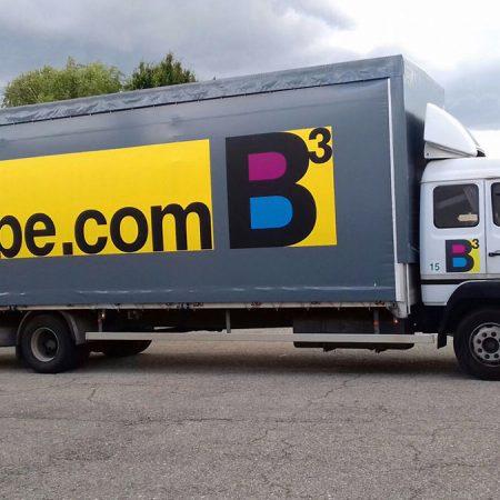 BCUBE - Teloni per camion con grafica in vinilica - Teloni per camion - Venturello