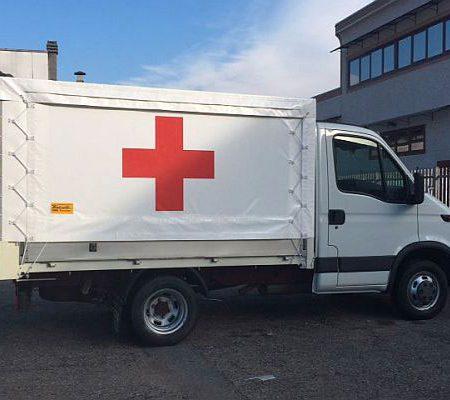 CROCE ROSSA ITALIANA - Telone per camion - Venturello