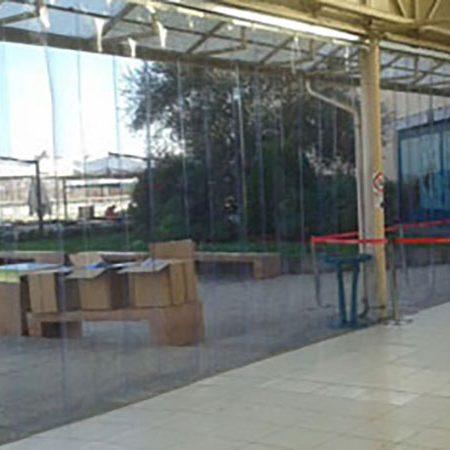 Chiusura a strisce Centro Commerciale Le Gru - Venturello