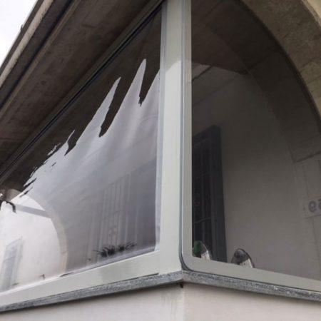 Chiusura balcone con PVC trasparente - Venturello