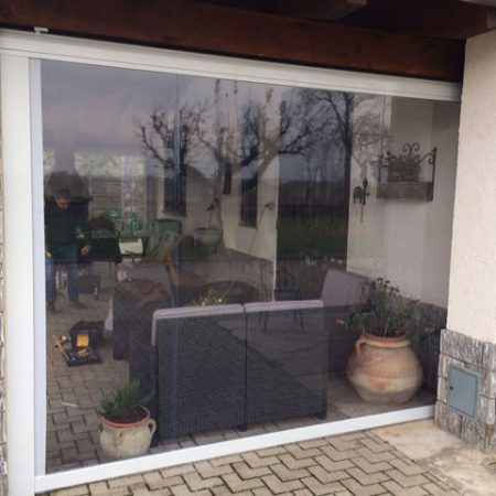 Chiusura tettoia con PVC trasparente - Venturello