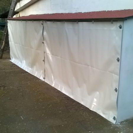 Chiusura tettoia con Teli in PVC - Venturello
