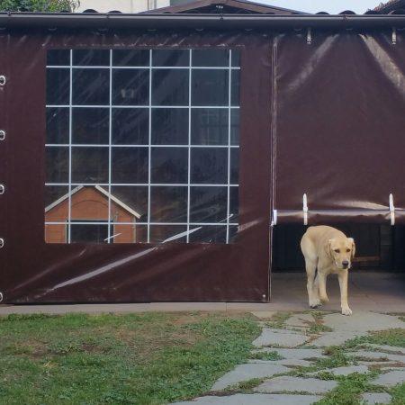 Chiusura tettoia in legno - Chiusure per esterno - Venturello