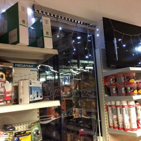 Chusura a strisce PVC trasparente per negozio - Venturello
