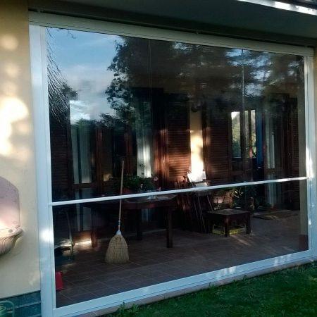 Chusura tettoia scorrevole in PVC trasparente - Venturello
