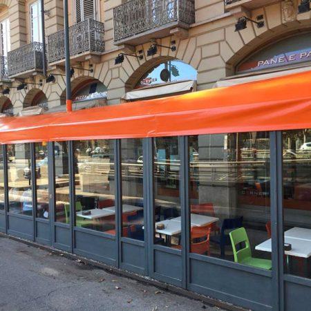 Copertura dehors per pizzeria Torino - Venturello