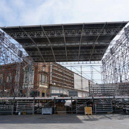 Copertura palco Piazza Castello TORINO - Coperture su misura - Venturello