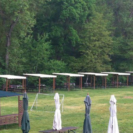 Copertura pergole in legno area ristorativa - Venturello