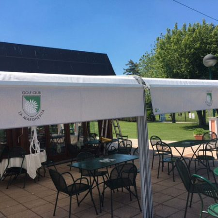 Dehors con tessuto acrilico_Golf Club La Margherita Carmagnola, Torino - Venturello