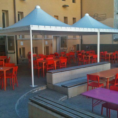 Gazebi per area esterna Casa del Quartiere, Torino - Venturello