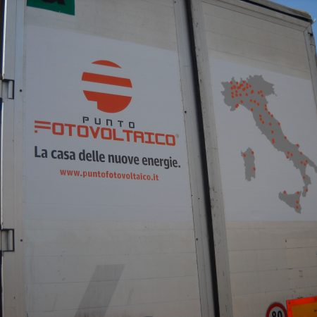 Grafica personalizzata Portelloni Camion - Scritte pubblicitarie - Venturello