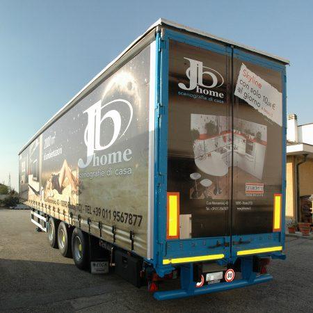 JB HOME - Telone camion Grafica Retro in adesivo - Teloni per camion - Venturello