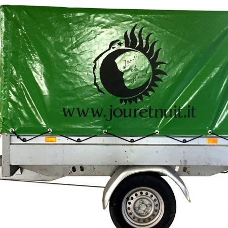 JOUR ET NUIT Telone per carrello con grafica e loghi personalizzati - Teloni per camion - Venturello