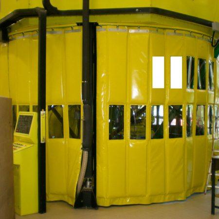 Pannelli insonorizzanti con finestre - Tende fonoassorbenti - Venturello