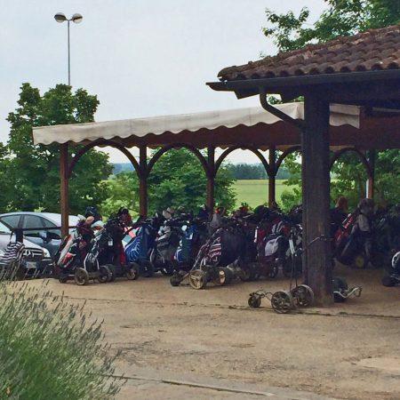 Pergola ricovero attrezzature sportive - Golf Club La Margherita - Venturello