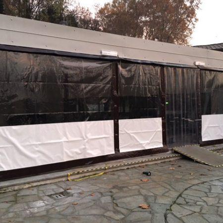 Teli chiusura patio esterno Discoteca Banus, Torino - Chiusure per esterno - Venturello