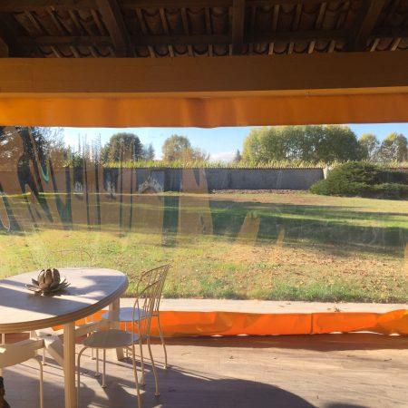 Teli scorrevoli per chiusura tettoria in PVC trasparente - Venturello