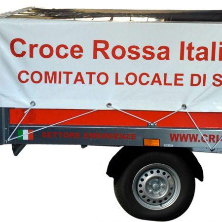 Telo su misura per carrello croce rossa Susa_TO - Venturello