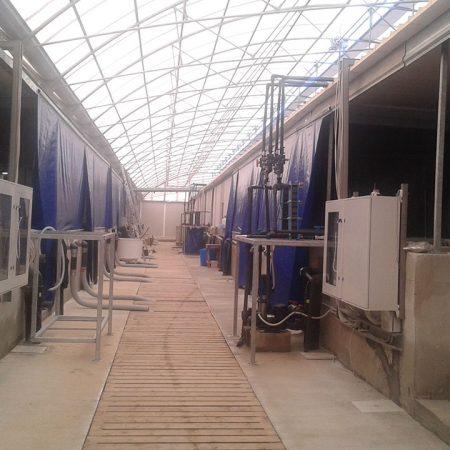 Teloni blu in Tarp cover per settorizzazione allevamento ittico - Chiusure per industria - Venturello