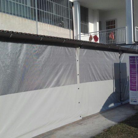 Teloni in PVC con inserti per chiusura tettoia - Chiusure per esterno - Venturello