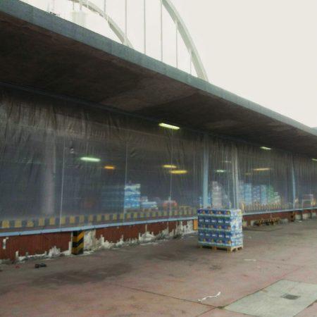 Teloni in PVC trasparente per chiusura deposito Centrale del latte di Torino - Venturello