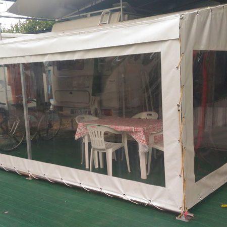Teloni per chiusura veranda camping con occhielli - Venturello