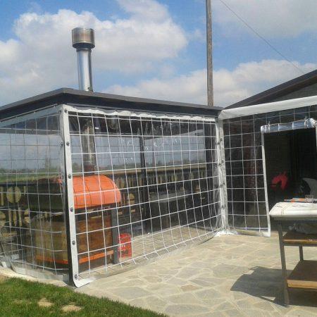 Teloni scorrevoli in PVC trasparente window a protezione arredo giardino - Venturello