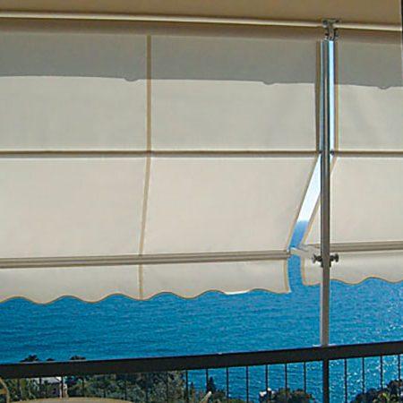 Tenda da sole guidata con frangivento - Venturello