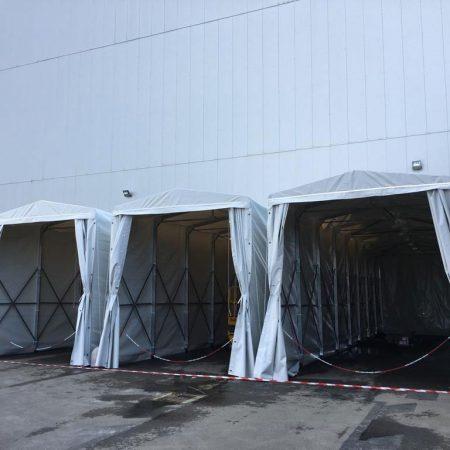 Tunnel estensibili e movibili - Chiusure per industria - Venturello