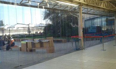 Chiusura a strisce Centro Commerciale Le Gru Grugliasco (TO)