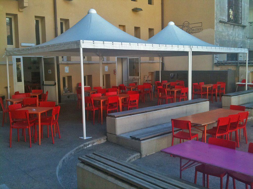Gazebi per area esterna Casa del Quartiere Torino