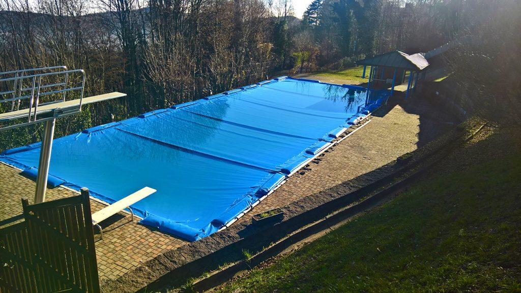Telone per piscina con tubolari Club I Faggi Cignese (VB)