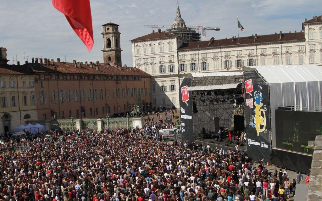 Teloni allestimento Torino Jazz Festival 2016