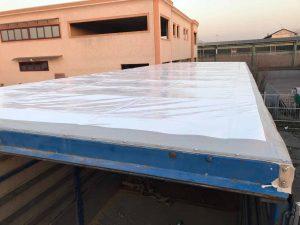 sostituzione tetto rovinato camion torino